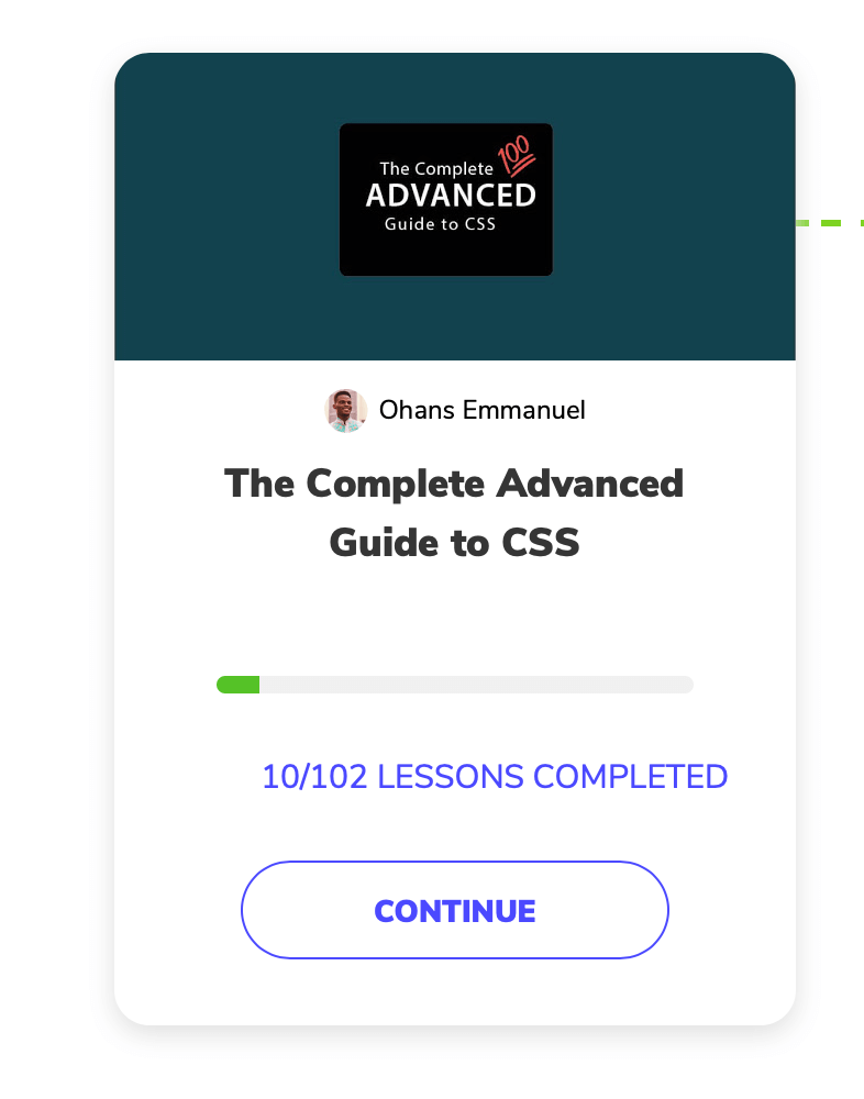 Screenshot of the complete advanced guide to css