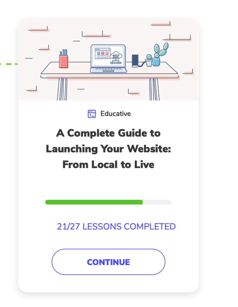 Thumbnail of A complete guide to launching your websites for front end developer course