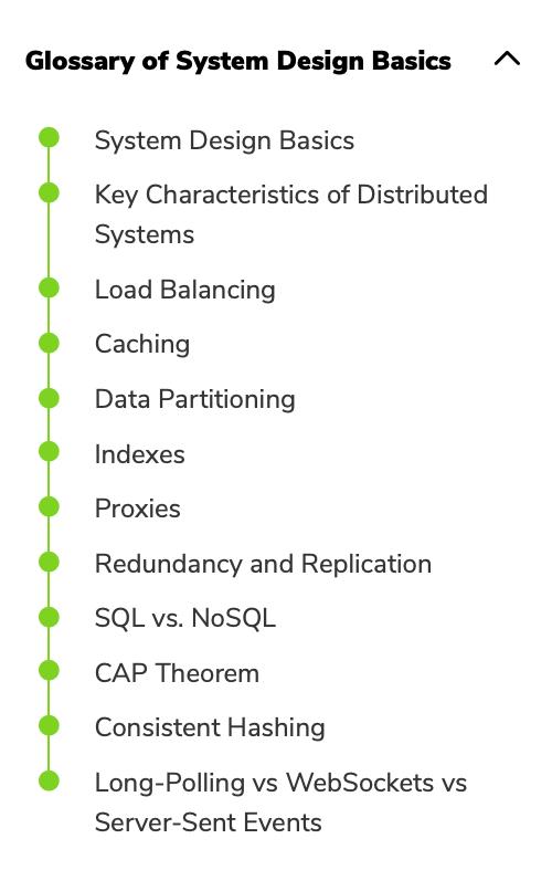 grokking the sytstem design interview glossary of system design basics screenshot