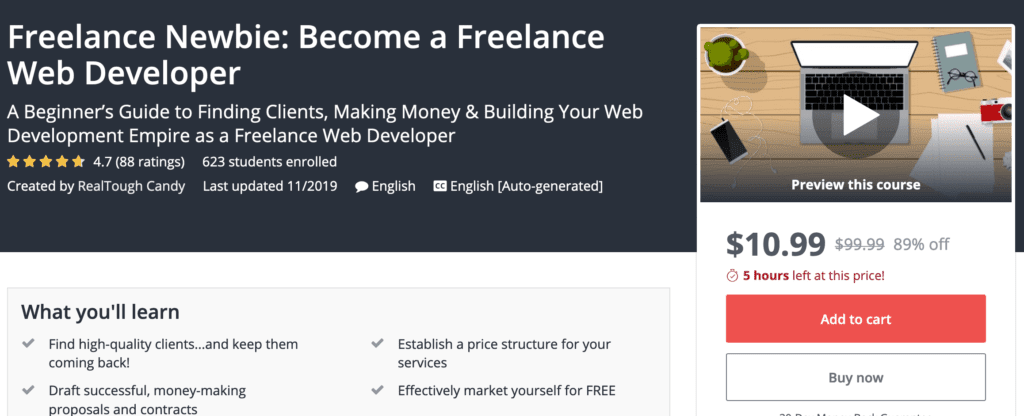 Freelance Newbie become a freelance web developer by RealToughCandy screenshot