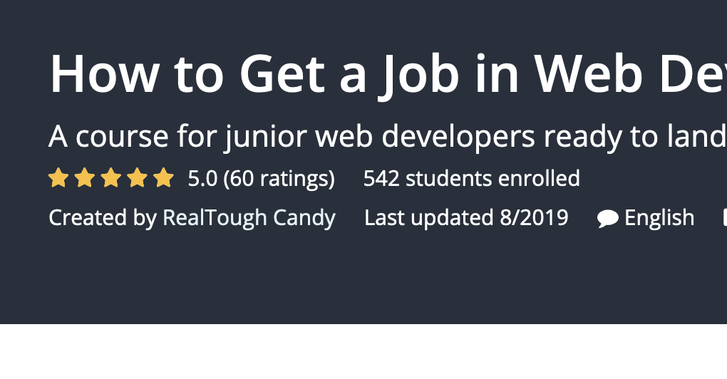 Get a web developer job screenshot of 5 star feedback for How to Get a Job in Web Development