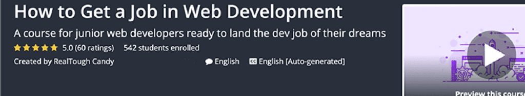 How to Get a Job in Web Development by RealToughCandy get a web developer job course sceenshot