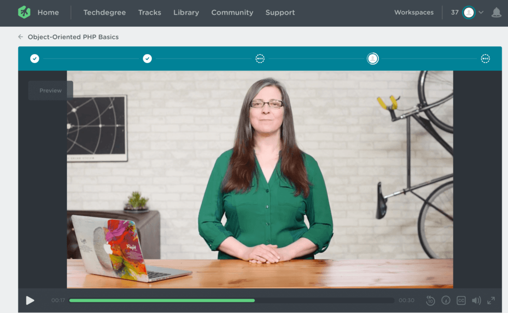 Team Treehouse Video Screenshot