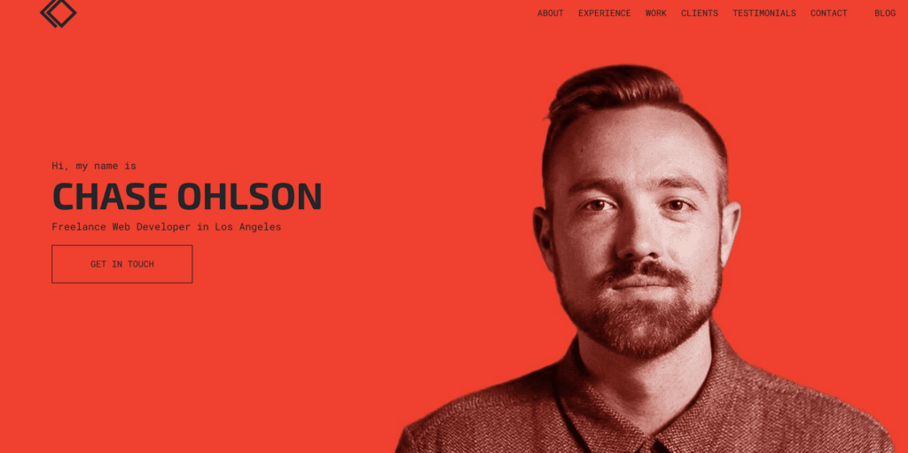 become a freelance web developer chase ohlson landing page
