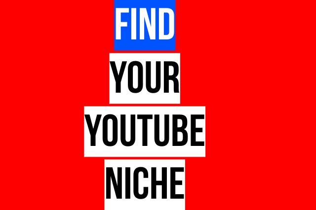find your youtube niche text