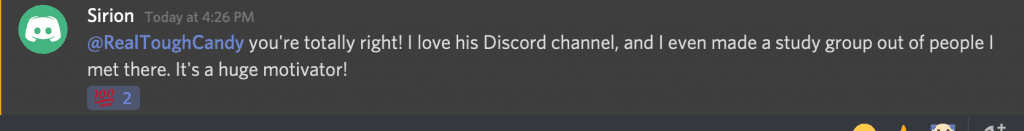 discord community member discussing the value of the zero to mastery discord server