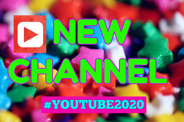 colorful candy pieces serving as channel artwork when starting a YouTube channel