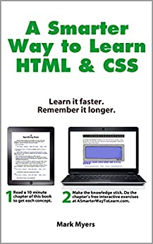 cover of A Smarter Way to Learn HTML & CSS book by Mark Myers
