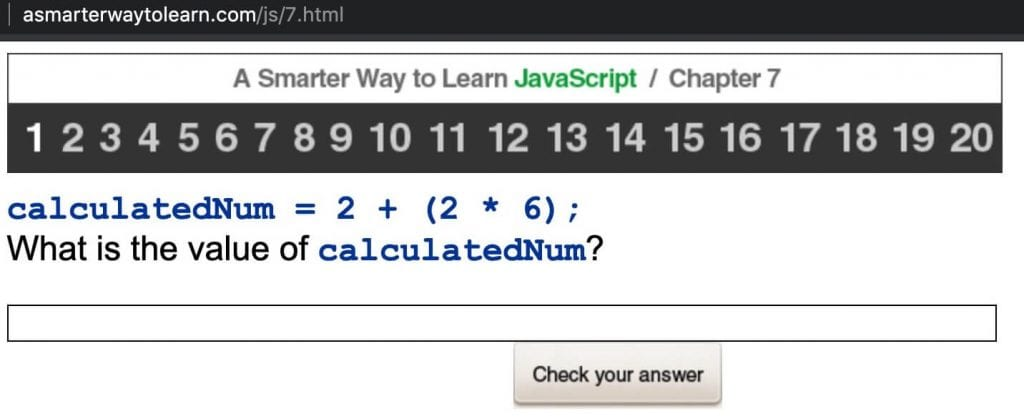 the best javascript book a smarter way to learn javascript student exercise calculating math functions