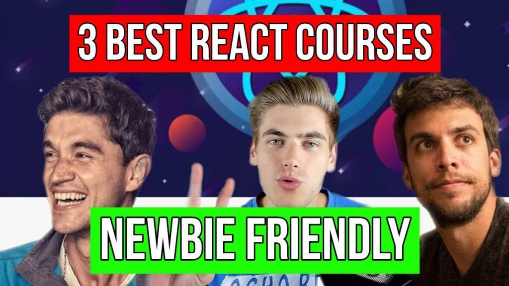 Instructors of the best react courses featuring Andrei Neagoie, Kyle Cook and Robin Wieruch