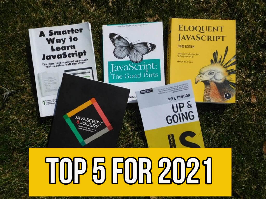 5 top rated books about JavaScript with text