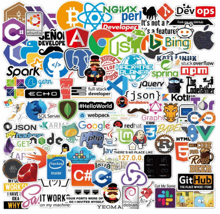 108 stickers of various programming languages, frameworks and terms is one of the best gifts for programmers.