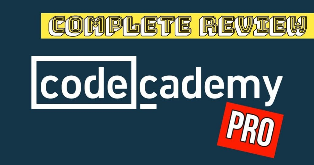 blue card with text that says complete review codecademy pro