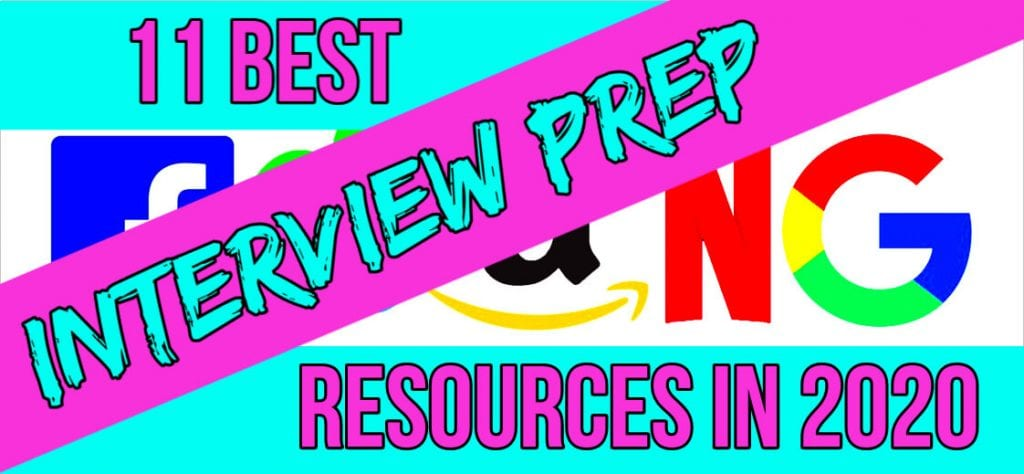 11 best FAANG interview prep resources in 2020 purple and blue text