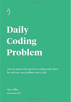 Daily Coding Problem in white with seafoam background