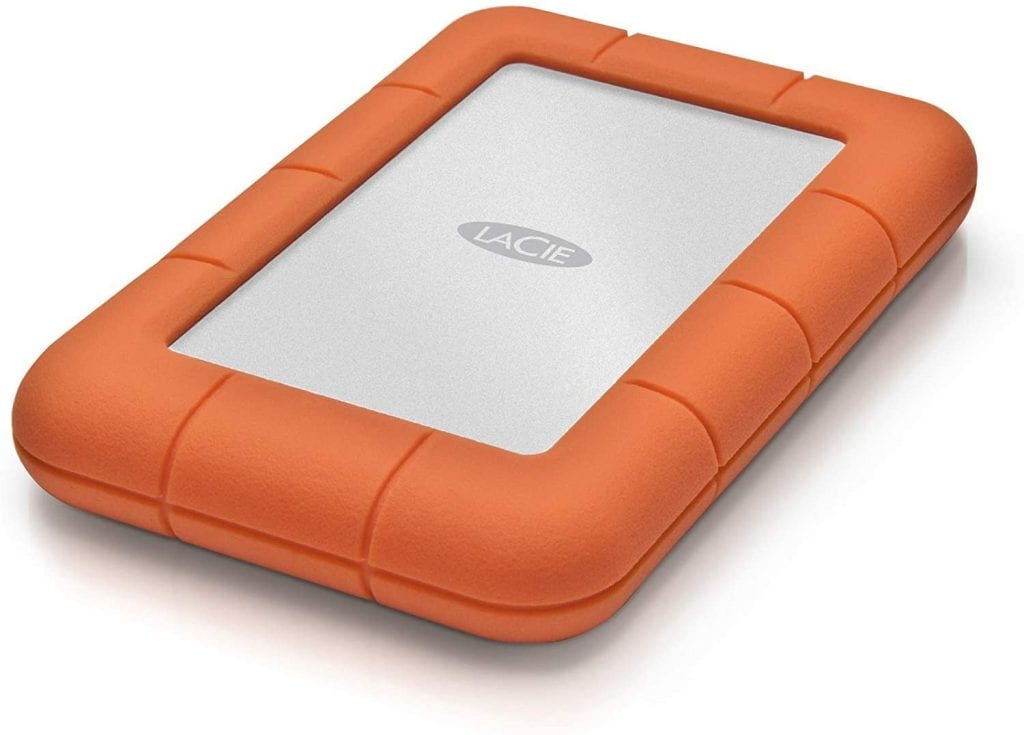 lacie external hard drive with orange rubber lacie hard drive review