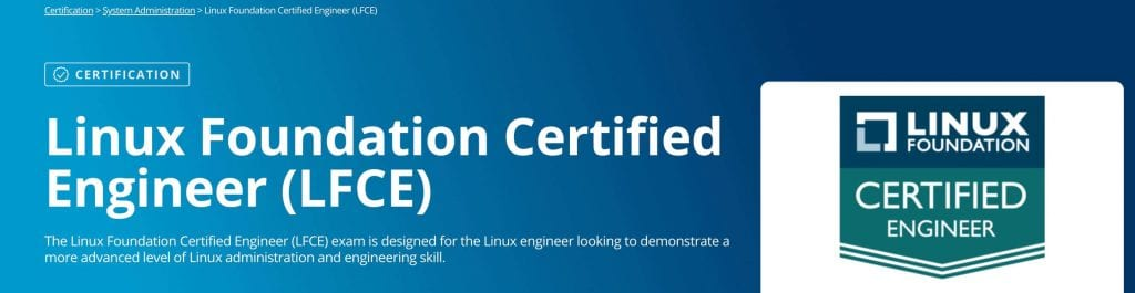 Linux Foundation Certified Engineer landing page best linux training