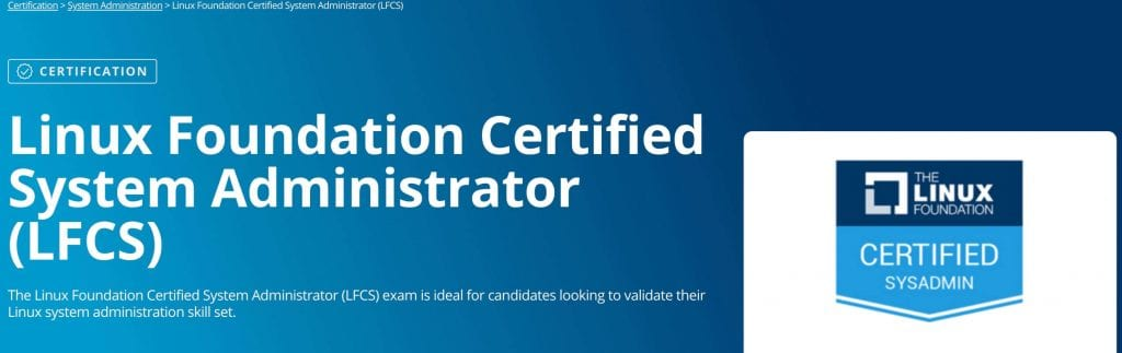 Linux Foundation Certified Systems Administrator best linux training landing page