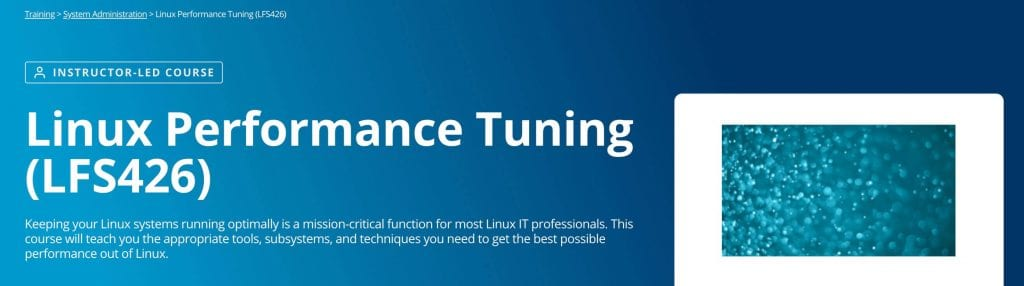 linux performance tuning landing page of best linux training
