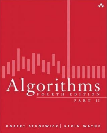 Algorithms red cover with pink line graph