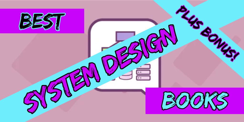 best system design books plus bonus in pink blue and black