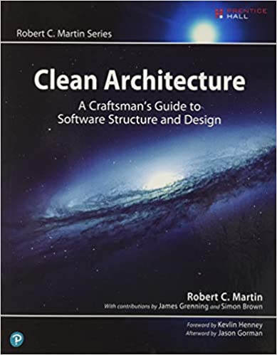 Clean Architecture book cover with photo of milky way galaxy