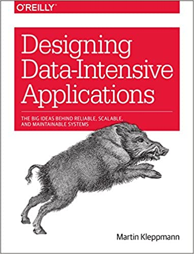 Designing Data-Intensive Applications book cover with drawing of boar