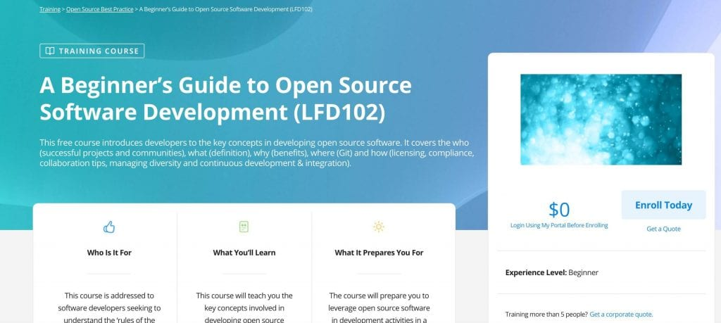 he linux foundation training review a beginners guide to open source software development landing page