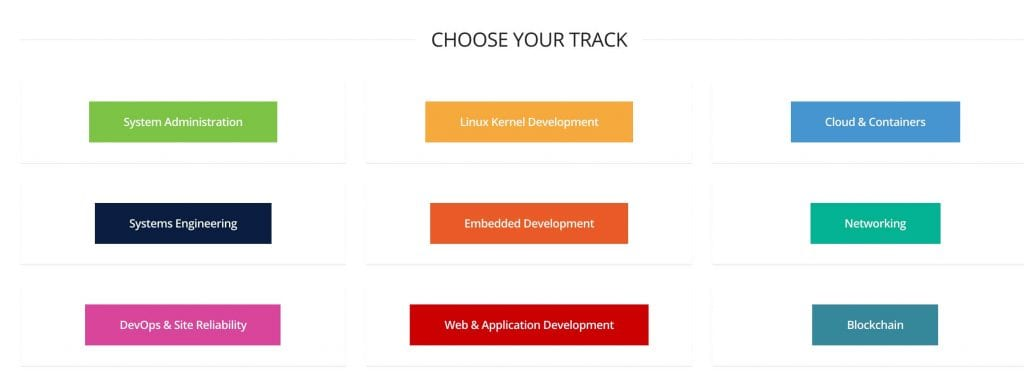 the linux foundation track options