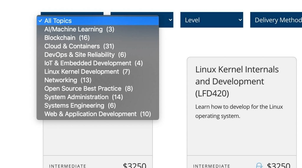 the linux foundation training review a list of course topics