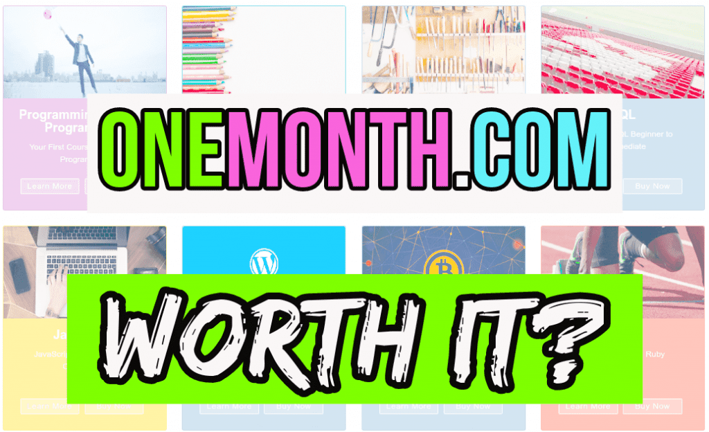 one month review onemonth.com worth it pink green blue white