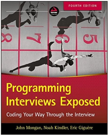 Programming Interviews Exposed cover with overhead of runners crossing finish line