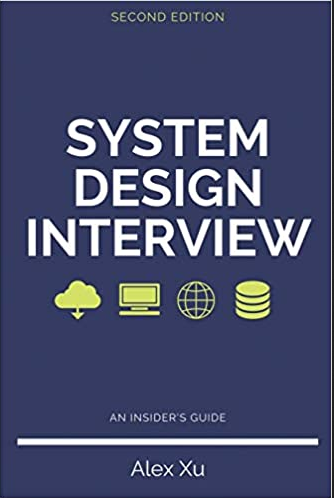 system design books system design interview cover with blue background