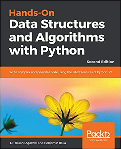 Hands-On Data STructures and Algorithms with Python book cover with flower for best algorithms books