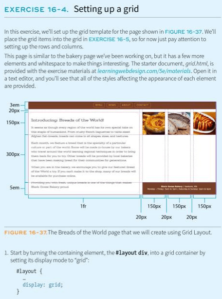 setting up a grid instructions with diagram of different breads