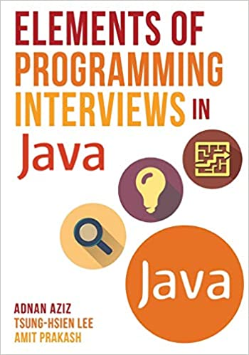 Elements of Programming Interviews in Java coding interview books cover