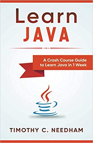 best Java books for beginners Learn Java cover with Java logo