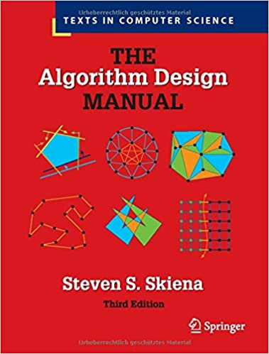 The Algorithm Design Manual cover with various shapes