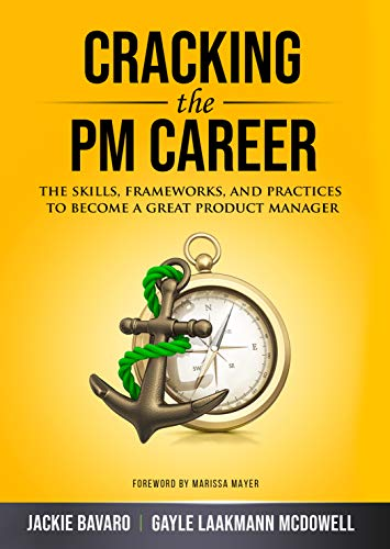 cracking the pm career by gayle laakman mcdowell book cover with anchor and compass