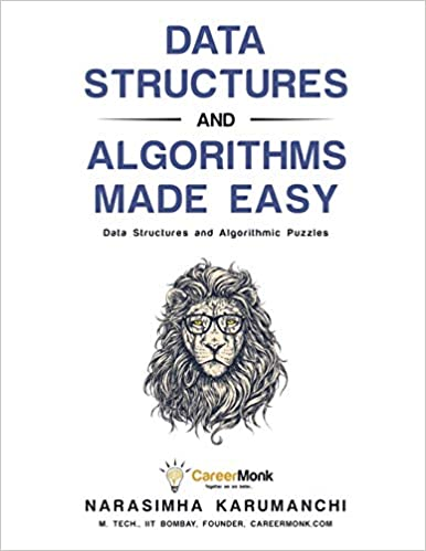 Data Structures and Algorithms Made EAsy with drawing of lion head earing glasses best books for data structures