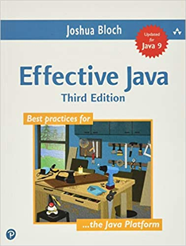 best Java books for beginners Effective Java book cover with workshop