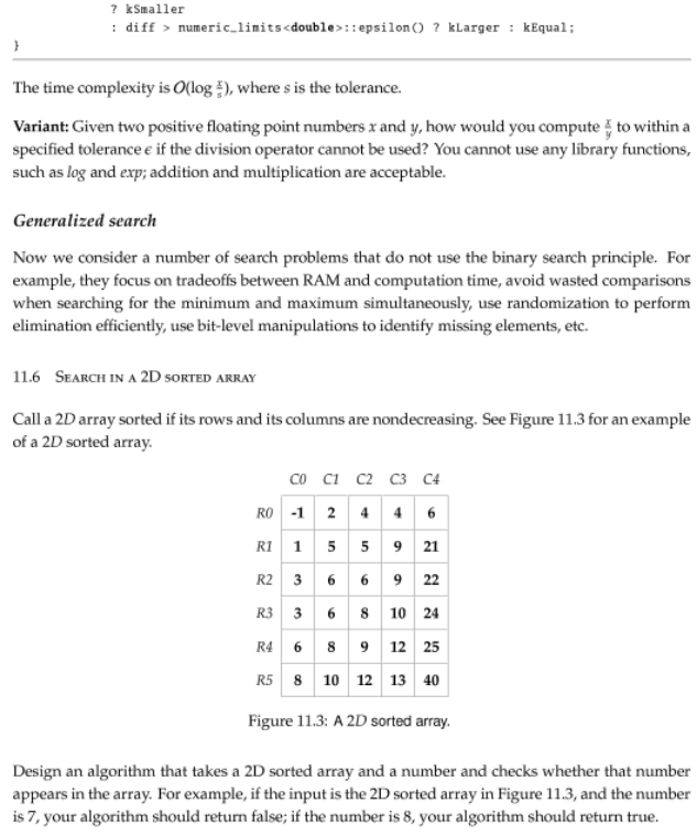 paragraphs and diagram of sorted array
