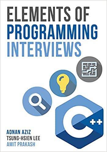 Elements of Programming Interviews in C++ coding interview books cover