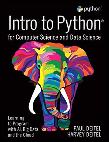 Intro to Python best python books for beginners cover with multicolored elephant