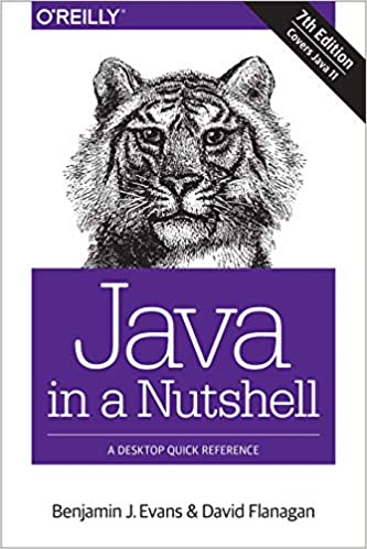 Java in a Nutshell cover with tiger head