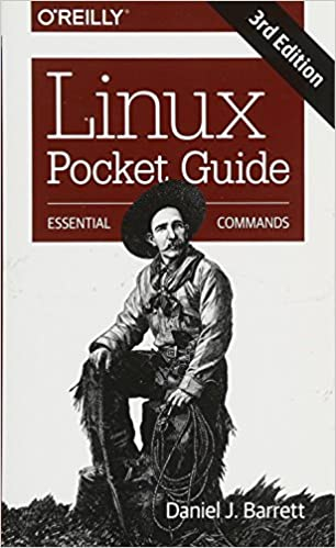 Linux Pocket Guide cover with drawing of old cowboy