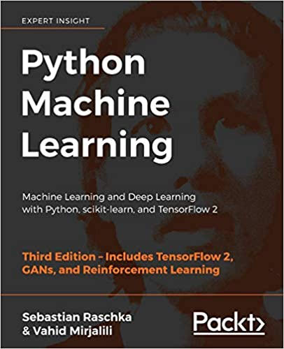 python machine learning tensorflow books cover with image of person's head