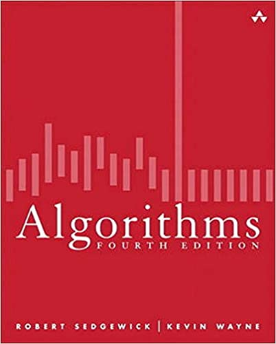 algorithms fourth edition book cover red