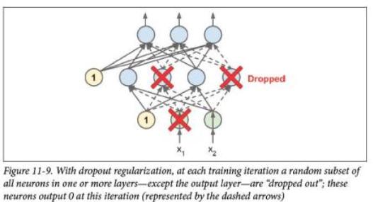 diagram of dropout regularization
