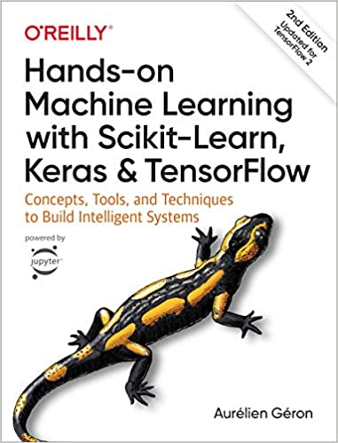 hands on machine learning book cover with salamander